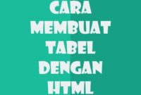 Cara Mudah Membuat Tabel Dengan HTML
