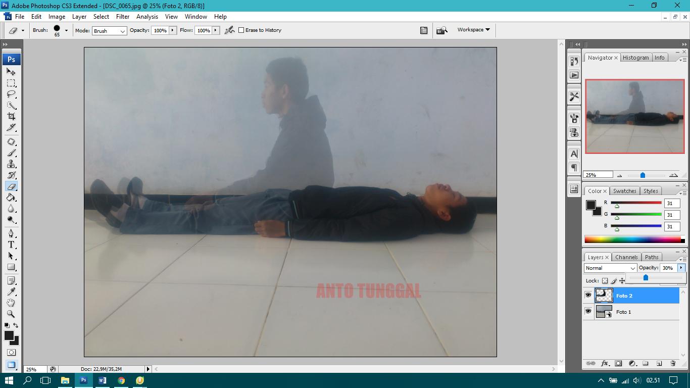 Cara Membuat Roh Arwah Keluar dari Badan dengan Photoshop