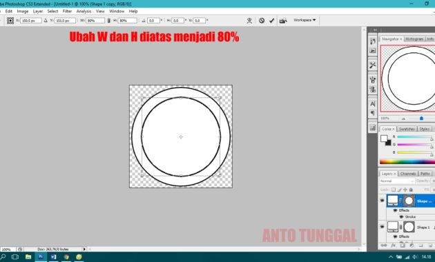 cara membuat stempel lingkaran