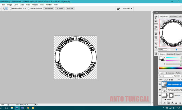 cara mudah membuat stempel di photoshop