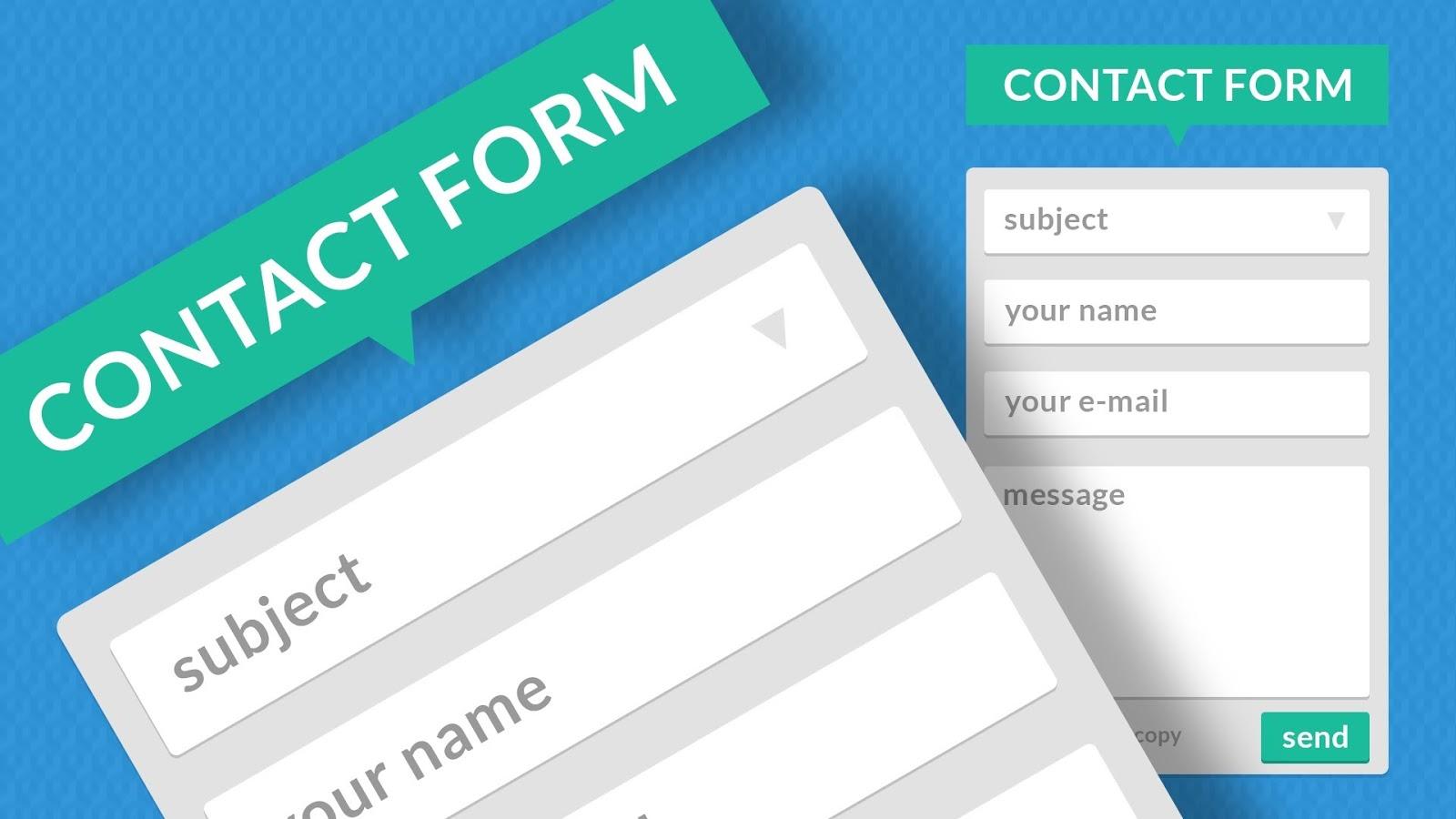 Cara Membuat Halaman Contact Form di Blog dengan Mudah