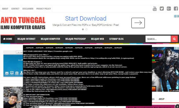 Pengertian Ransomware dan Penyebab Ransomware