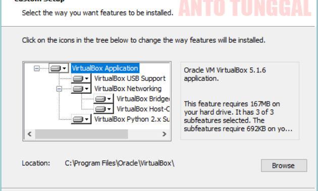cara install virtualbox di windows