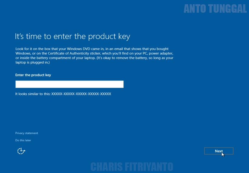 Cara Menginstall Windows 10 Lengkap