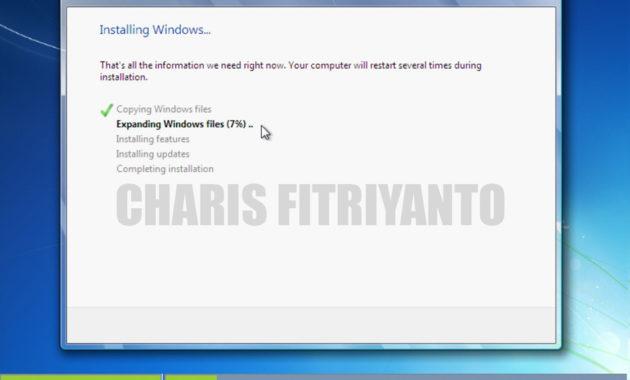 cara menginstal windows 7
