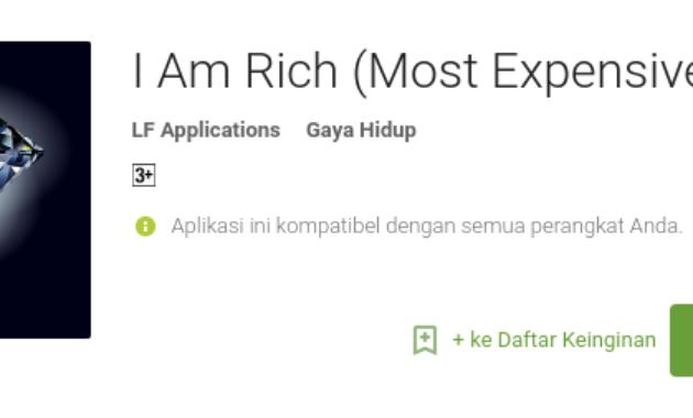 aplikasi android termahal di Play Store I Am Rich