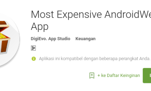 aplikasi android termahal di Play Store Most Expensive AndroidWear