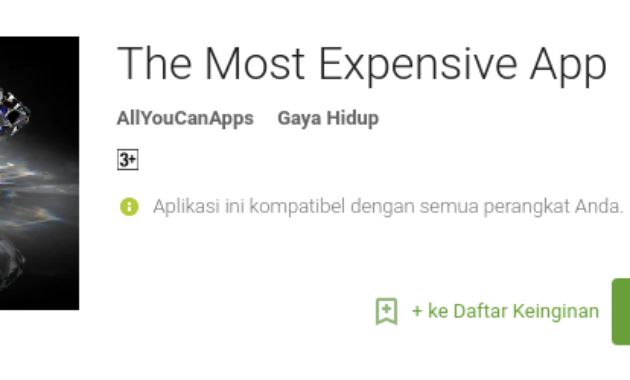 aplikasi android termahal di Play Store The Most Expensive App