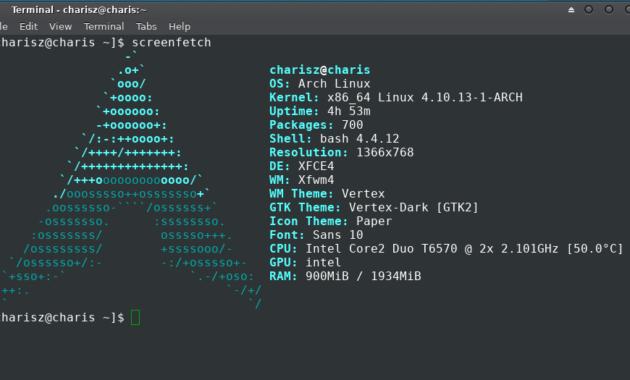 cara menampilkan logo Linux di terminal