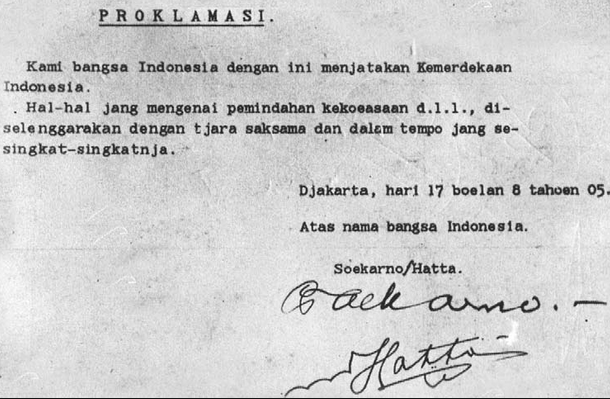 Sejarah Perumusan Teks Proklamasi Kemerdekaan Indonesia