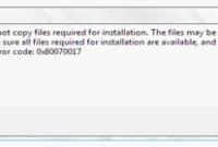 Cara Mengatasi Error Code 0x80070017 Saat Install Windows