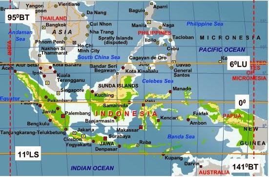 Letak Astronomis dan Letak Geografis Indonesia