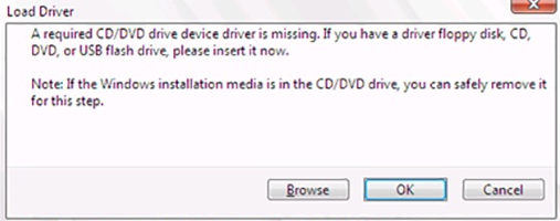 Cara Mengatasi Error a Required CD/DVD Device Driver is Missing Saat Install Windows