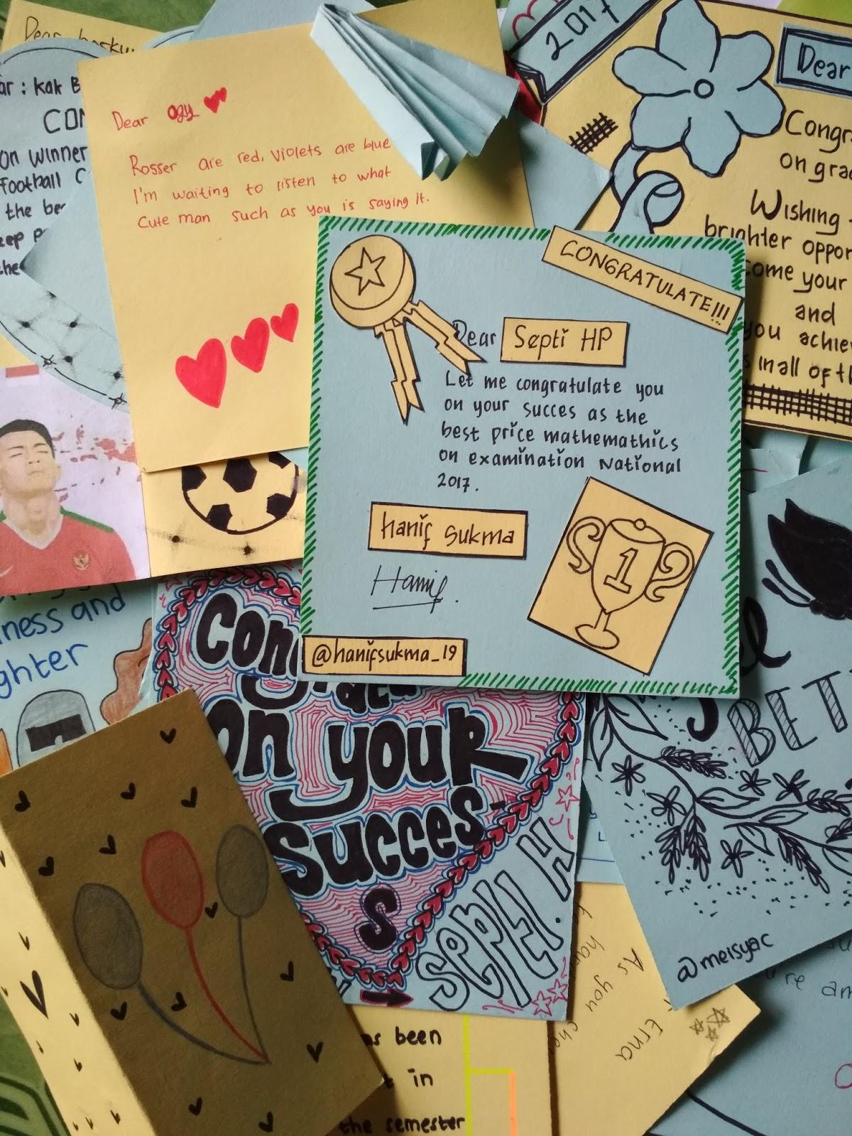 8 Contoh Congratulation Card (Kartu Ucapan Selamat Dalam Bahasa Inggris)