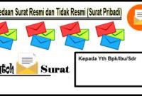 Perbedaan Surat Resmi dan Tidak Resmi Bahasa Indonesia Beserta Contoh