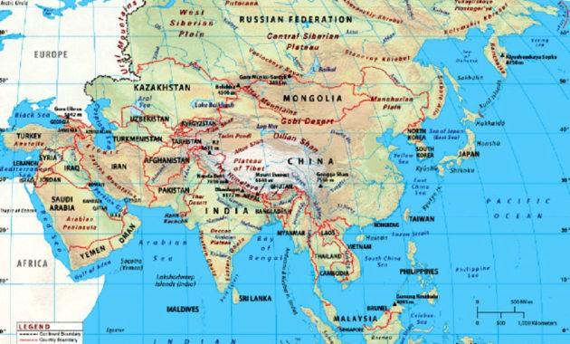 Gambar Peta Asia Lengkap