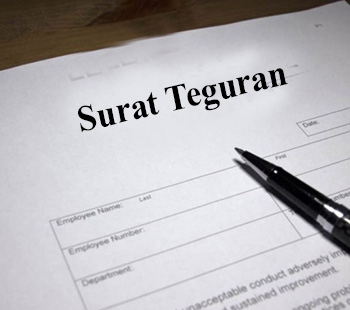 Contoh Surat Peringatan (Teguran) Bahasa Indonesia