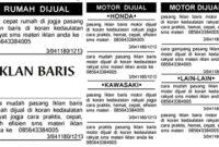 Unsur Unsur Iklan Baris Dalam Bahasa Indonesia Beserta Contoh