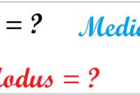 Cara Menghitung Modus, Median, dan Mean Dari Data Tunggal